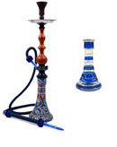"30"" Blue Queen Redwood Regal Hookah"