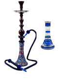 "30"" Blue Queen Regal Hookah"