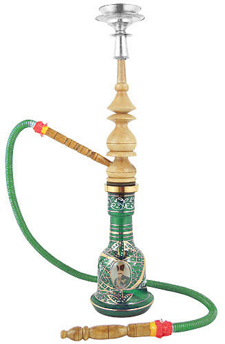 how to clean a wooden hookah hose