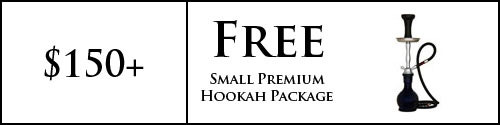 Free Small Premium Hookah Package