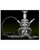 "10.5"" Round Glass Atom Glass on Glass Hookah"