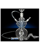 "11.5"" Round Glass Saturn`s Moon Glass on Glass Hookah"