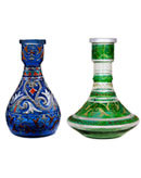 Fancy Syrian Glass Hookah Vase