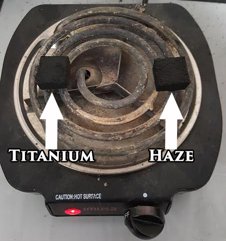 New Haze Natural Coconut Coals vs. Titanium Coals - For Science!